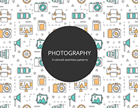 Photography Vector Free Seamless Pattern