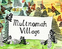 Illustrated Map of Multnomah Village, Portland, Oregon