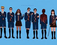Umbrella academy fan art by Nikita Abuya