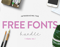 The HungryJPEG's Free Font Bundle