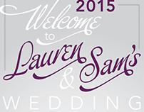 SNL Wedding Signage
