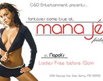 Flier for Napoli's Nightclub - Manaje Fridays