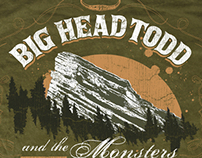 Big Head Todd and the Monsters 2007 Red Rocks t-shirt