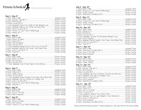 Fitness Club Schedule, Sample