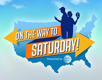 """AT&T """"On The Way To Saturday"""" Logo and Motion Graphics."""