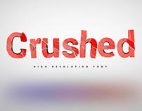 Crushed font