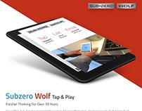 Subzero Wolf Tap & Play Web Based App