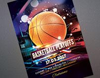 Basketball Playoffs Flyer Template