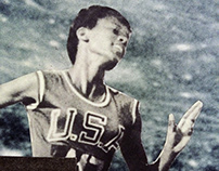 wilma rudolph is faster than comets (handmade collage)