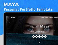 MAYA - Personal Portfolio Template