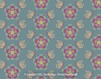 Butterflies and Blossoms pattern