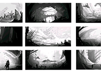 Thumbnail environment speed paintings