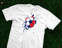 Football Explosion T-shirt Line