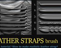 Leather straps brush on Artstation Store