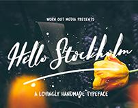 Hello Stockholm - Free Handmade Typeface