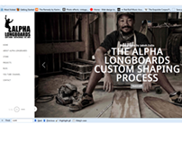 Alpha Longboards Responsive Website & Store