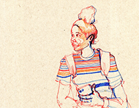 Subway Series: Art Student