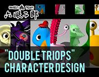 """""""Double Triops"""" - 《六眼二郎》Character Design"""