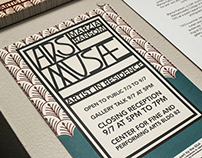 Exhibition Identity for Marzia Ransom's Ars Musae