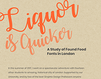 Liquor is Quicker: A Found Type Book
