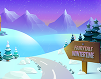 Fairytale  Wintertime Background