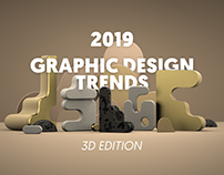 2019 Graphic design trends: 3D edition