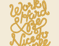 Rope Hand Lettering