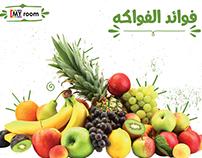 """""""Fruits benefits for kids """" Social media designs"""