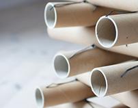Cardboard tube stool