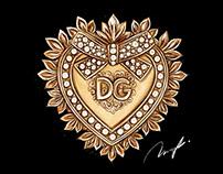 DOLCE&GABBANA Devotion Bag Fashion Illustration