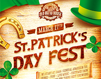 St. Patrick's Day Poster vol.5, PSD Template