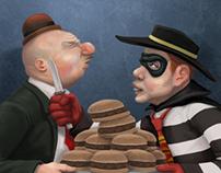 Wimpy vs. The Hamburglar