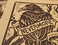 """Nevermore"" Block Print"