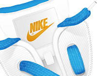 Nike laces lettering