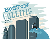Boston Calling Poster Series and Multimedia Ad