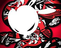 Graffiti artist devil monkey 'DMK_japan' graffiti