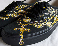 Jesus Walks custom vans shoes