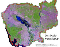 National Landsat Mosaic of Cambodia