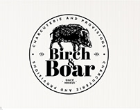 Logo for Birch & Boar local food focused grocery store.