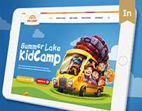 KidCamp website design