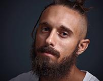 Bearded man headsho