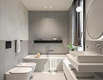 Bathroom - residential building Giannone 2 Milan