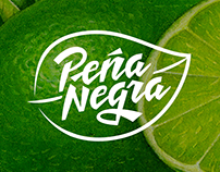 Peña Negra logo y packaging