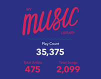 My Music Library // Infographic