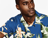 Tropical print for ZARA Man