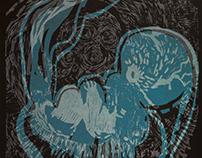 """""""Suborganic and Subconscious"""", linocut series, 100x70cm"""