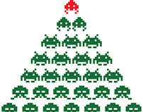 Space Invaders Christmas Cards