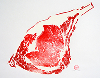 Karo's Meatmarket - Meat Art Linocuts