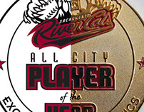 Rivercats All City Player of the Year Medallions