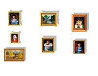 few Pixel paintings